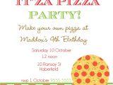 Pizza Birthday Party Invitation Templates Pizza Party Invitation Template