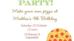 Pizza Birthday Party Invitation Templates Pizza Party Invitation Template