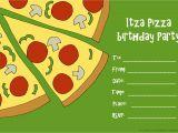 Pizza Birthday Party Invitation Templates Pizza Party Invitations – Gangcraft