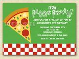 Pizza Birthday Party Invitation Templates Pizza Party Invitations