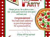 Pizza Birthday Party Invitation Templates Pizza Party Invitations Party Invites