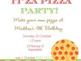 Pizza Making Birthday Party Invitation Template Pizza Party Invitations theruntime Com