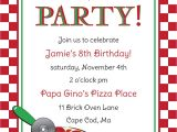 Pizza Party Invitation Email Free Pizza Party Invitation Templates