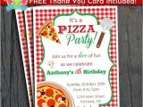 Pizza Party Invitation Email Pizza Party Invitation Free Thank You Card by