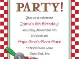Pizza Party Invitation Template Pizza Party Invitations – Gangcraft