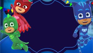 Pj Masks Party Invitation Template Free Printable Pj Masks Invitation Template In 2019