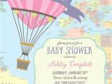 Places to Buy Baby Shower Invitations Hot Air Balloon Baby Shower Invitation Oh the Places