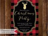 Plaid Christmas Party Invitations Holiday Party Invitation Buffalo Plaid Christmas Party