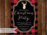 Plaid Christmas Party Invitations Holiday Party Invitation Buffalo Plaid Christmas Party