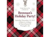 Plaid Christmas Party Invitations Holiday Plaid Personalized Invitation Each wholesale