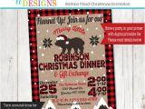 Plaid Christmas Party Invitations Lumberjack Buffalo Plaid Christmas Dinner Gift Exchange
