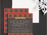 Plaid Christmas Party Invitations Plaid Christmas Holiday Party Invitations by Elli
