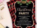 Plaid Christmas Party Invitations Plaid Christmas Party Invitation Xmas Invitation Holiday