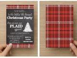 Plaid Christmas Party Invitations Printable Plaid Christmas Party Invitation