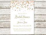 Plain Bridal Shower Invitations Blush Pink and Gold Bridal Shower Invitation Printable