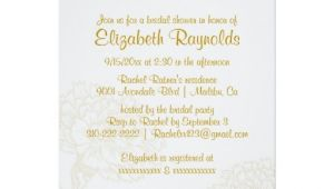 Plain Bridal Shower Invitations Simple Gold Bridal Shower Invitations