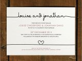 Plain White Wedding Invitations Simple and Elegant Wedding Invitation Card with Plain