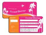 Plane Ticket Wedding Invitation Template Free 22 Wedding Invitations Free Premium Templates