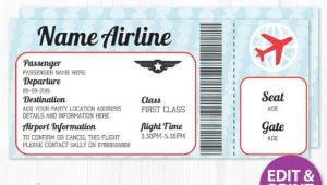 Plane Ticket Wedding Invitation Template Free Airline Ticket Invitation Template Free orderecigsjuice Info