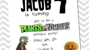 Plants Vs Zombies Birthday Invitation Template Unavailable Listing On Etsy