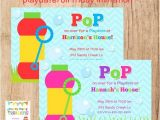 Playdate Birthday Party Invitations Bubbles Playdate or Birthday Invitation 2 to Choose You