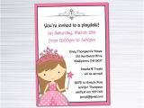 Playdate Birthday Party Invitations Items Similar to Princess Invitation Play Date or