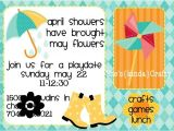 Playdate Birthday Party Invitations Play Date April Showers to May Flowers Shes Kinda