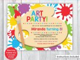 Pleasure Party Invitations Art Party Invitations Art Party Invitations Including