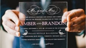 Plexiglass Invitations Wedding Wedding Trend Plexiglass and Acrylic Wedding Stationery