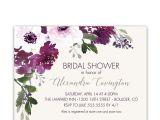 Plum Bridal Shower Invitations Purple Plum Watercolor Floral Bridal Shower Invitations