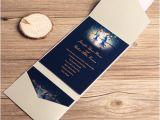 Pocket Invitation Kits for Wedding Love Birds In Moonlight Silver Pocket Wedding Invitation