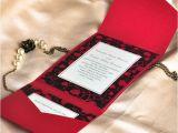 Pocket Invitation Kits for Wedding Modern Red and Black Pocket Printable Wedding Invitation
