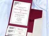 Pocket Invitation Kits for Wedding Print Your Own Burgundy Wedding Invitations Burgundy