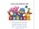Pocoyo Birthday Party Invitations 8 Pocoyo Party Favor Birthday Invitations Ebay