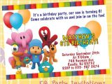 Pocoyo Birthday Party Invitations Pocoyo Birthday Invitation Printable
