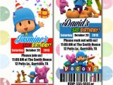 Pocoyo Birthday Party Invitations Pocoyo Birthday Party Invitation Ticket Style You Print