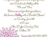 Poems Bridal Shower Invitations Bridal Shower Invite Cute Poem