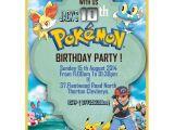 Pokemon Birthday Party Invitation Wording Personalize Pokemon Party Invitations Thank You Cards