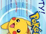 Pokemon Birthday Party Invitation Wording Pokemon Birthday Invitation