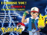 Pokemon Birthday Party Invitation Wording Pokemon Customized Printable Birthday Party Invitation