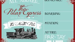 Polar Express Party Invitation Template Free Polar Express Party Invitation Party Like A Cherry
