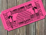 Pole Party Invitations Items Similar to Pole Dancing Bachelorette Party Ticket