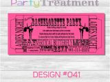 Pole Party Invitations Pole Dancing Bachelorette Party Ticket by Partytreatment