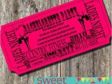 Pole Party Invitations Pole Dancing Bachelorette Party Ticket Invitation