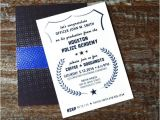 Police Academy Graduation Invitation Wording Police Academy Graduation Invitations Front by