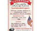 Police Academy Graduation Invitation Wording Police Academy Graduation Invitations Template Best