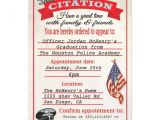 Police Academy Graduation Party Invitations Police Academy Graduation Citation Invitation 5 Quot X 7