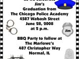Police Academy Graduation Party Invitations Police Academy Graduation Invitations