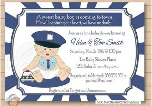 Police Baby Shower Invitations 17 Best Images About Baby Shower On Pinterest themed