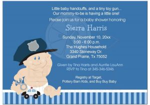 Police Baby Shower Invitations Baby Cop Police Officer Baby Shower Invitation Baby Boy
